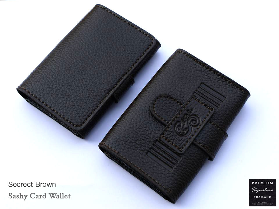 Secrect Brown(น้ำตาลเข้ม) - Sashy Card Wallet
