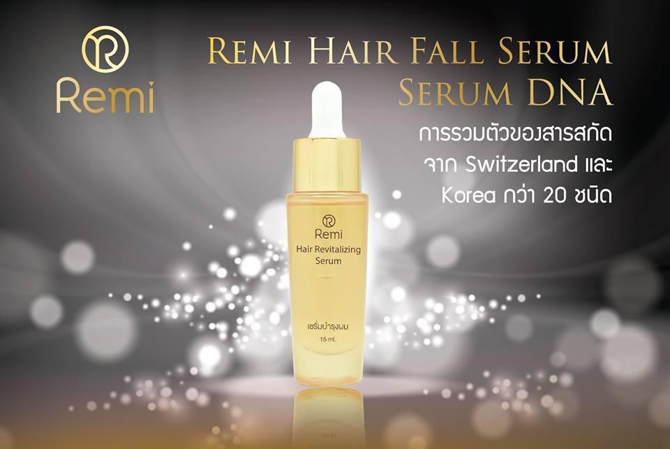 Remi Hair Fall Serum :: Serum DNA ด้วยสารสกัดอันเลอค่าจากประเทศ Switzerland และ South Korea นวัตกรรมดูแลล้ำลึกในการดูแลปัญหาผมร่วง 15มล
