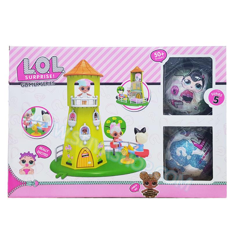 LO072 L.O.L Surprise ตุ๊กตา เซอร์ไพร์ส 7 ชั้น ชุด หอคอยสนามเด็กเล่น