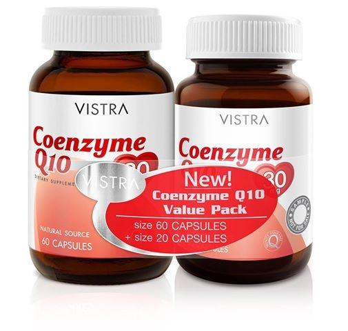 Vistra Coenzyme Q10 Value Pack วิสทร้า โคเอนไซม์คิวเท็น บรรจุ 60 เม็ด