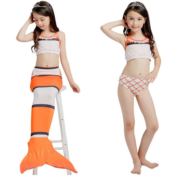 NH014 ชุดว่ายน้ำหางนางเหงือก หางปิด สามารถใส่ฟินได้ (ในชุดไม่รวมฟิน) 1 ชุด มี 3 ชิ้น