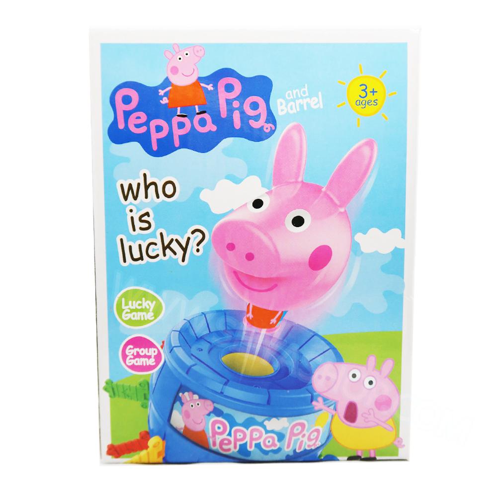 BO097 Peppa Pig stab game เกมเสี่ยงดวงรูป เป๊ปป้าพิก เสียบหรรษา พร้อมเกมส์เสี่ยงโชคด้านล้าง ขนาดกลาง