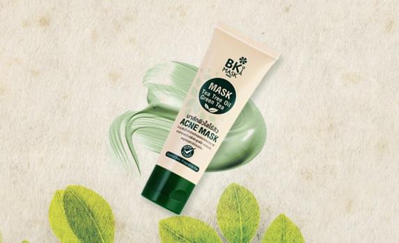 BK Mask Acne Mask Tea Tree Oil Green Tea 30g มาร์คหน้าใส เคลียทุกปัญหาสิว