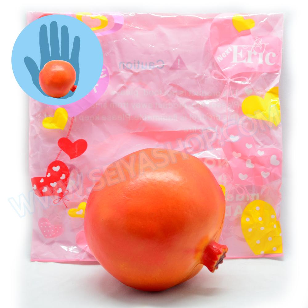 CA841 สกุชชี่ ทับทิม Eric ขนาด10 cm (super soft) สีส้ม ลิขสิทธิ์แท้