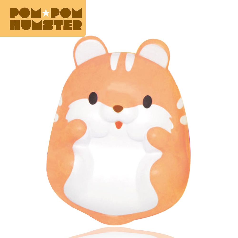 I096สกุชชี่ pompom hamster สีส้ม ขนาด 7 cm.