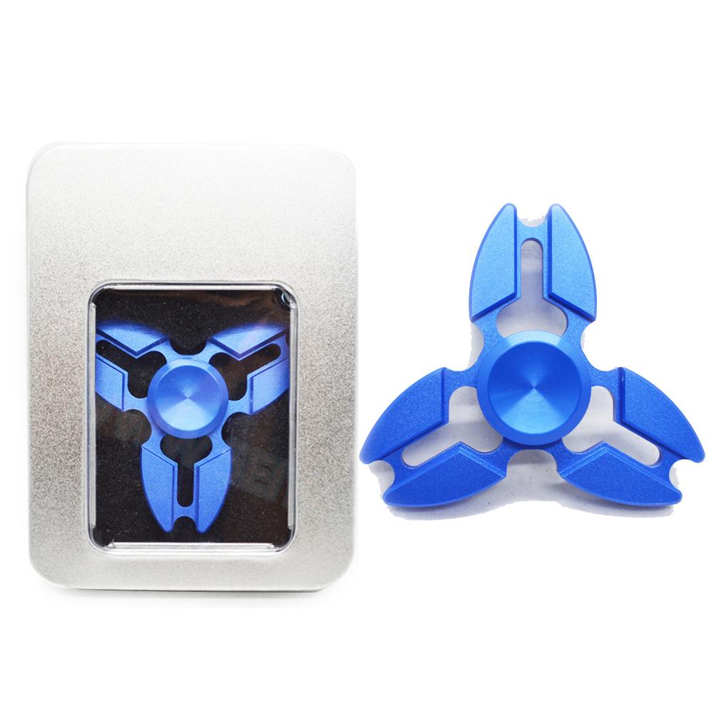 HF010 Hand spinner - GYRO (ไจโร) -Fingertip Gyroscope โลหะ สีน้ำเงิน