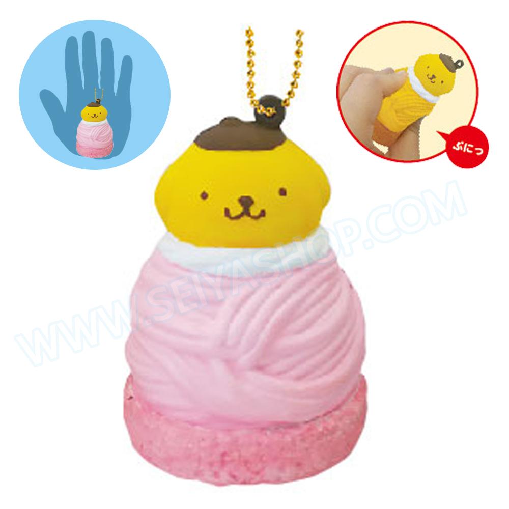 CA809 สกุชชี่ Pompompurin Cafe สีชมพู ขนาด 7cm (Soft) ลิขสิทธิ์แท้