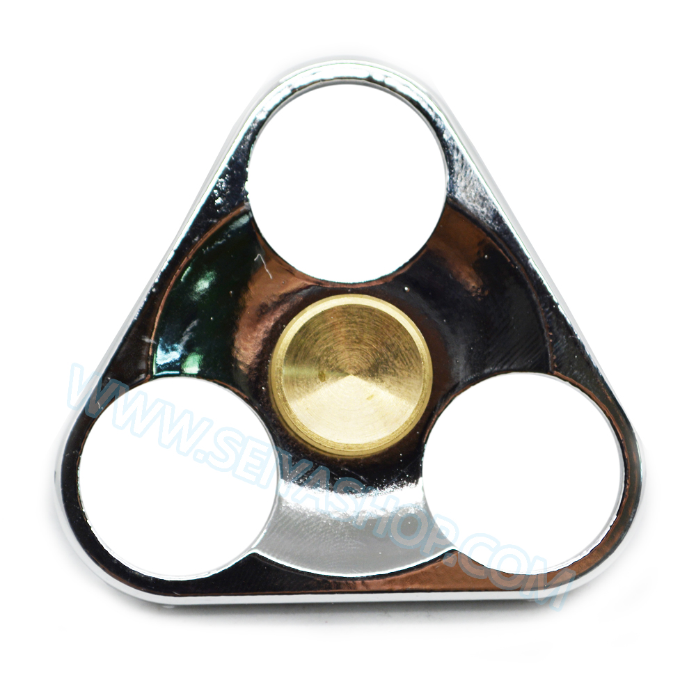 HF093 Hand spinner - GYRO (ไจโร) -Fingertip Gyroscope โลหะ รุ่น Triangle สี Silver