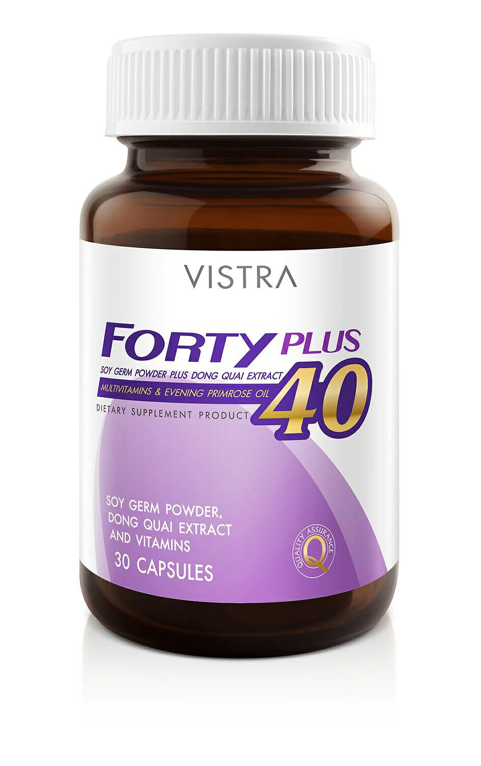 Vistra Forty Plus 40 Soy germ Powder plus Dong Quai Extract 30 caspsules.