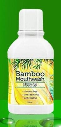 (ซื้อ 3 แถม 1) Bamboo Mouthwash Plus แบมบู เม้าท์วอช พลัส ปริมาณสุทธิ 300 ml.