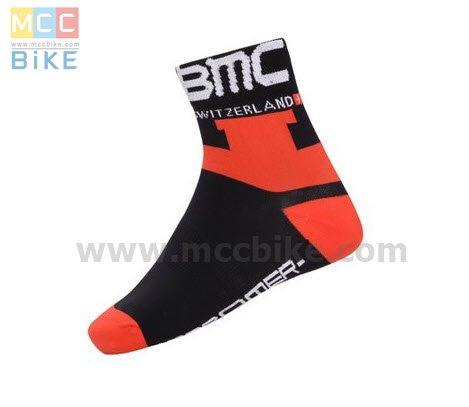 ถุงเท้าจักรยาน ถุงเท้าปั่นจักรยาน โปรทีม BMC