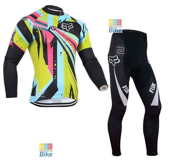 ชุดปั่นจักรยาน เสื้อปั่นจักรยาน และ กางเกงปั่นจักรยาน Fox ขนาด M