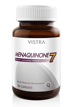 Vistra Menaquinone 7 วิสทร้า เมนาควิโนน เซเว่น บรรจุ 30 แคปซูล เพิ่มความแข็งแรงของความหนาแน่นของมวลกระดูก