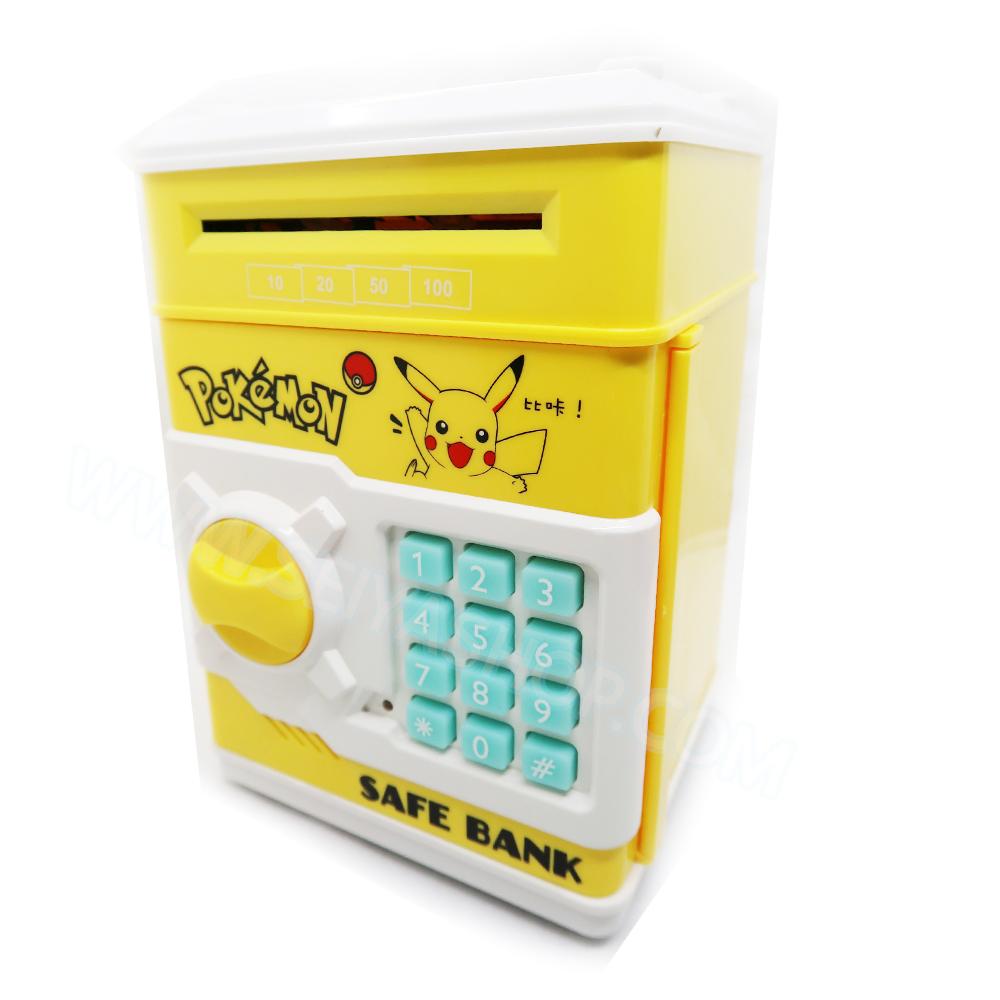 KA014 กระปุกออมสิน ตู้เซฟ ดูดเงินอัตโนมัติ ลาย Pikachu