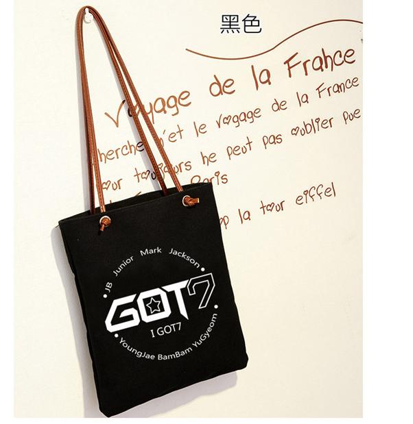 KGTB17 กระเป๋าผ้า GOT7 ของแฟนเมด ติ่งเกาหลี Got7
