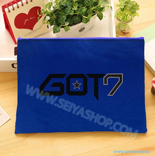 KGTB24 กระเป๋าใส่สมุด GOT7 ขนาด 33x25cm ของติ่ง GOT7