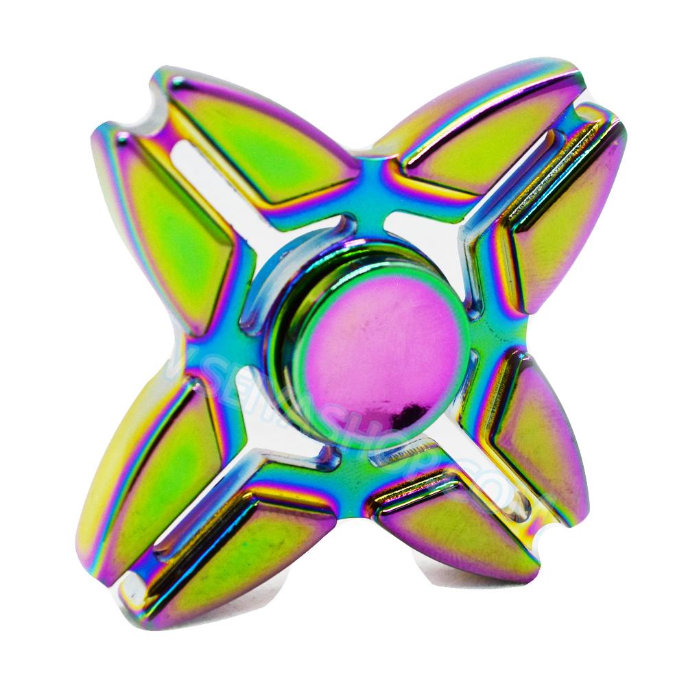 HF227 Fidget spinner -Hand spinner - GYRO (ไจโร) โลหะ สีรุ้ง