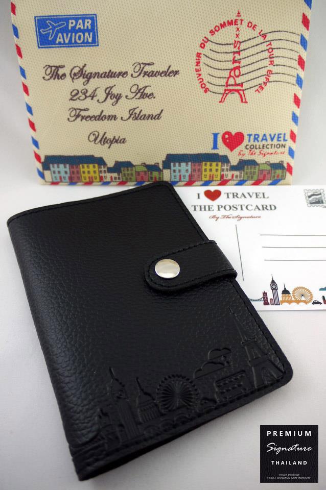 Pure Black(ดำ) - Passport Holder