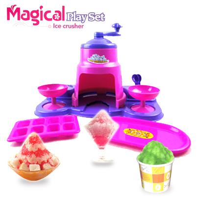 J001 เครื่องทำน้ำแข็งใส Magical Play Set Ice crusher (ทำได้จริง)