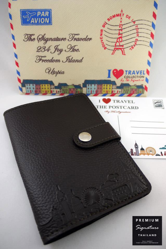 Secrect Brown(น้ำตาลเข้ม) - Passport Holder
