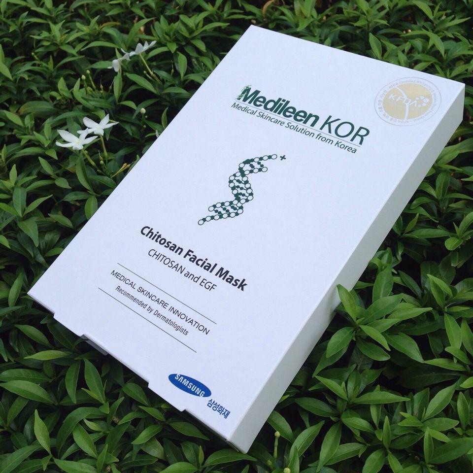 Medileen KOR Chitosan Facial Mask แผ่นมาส์กหน้า เมดิลีน 4 แผ่น