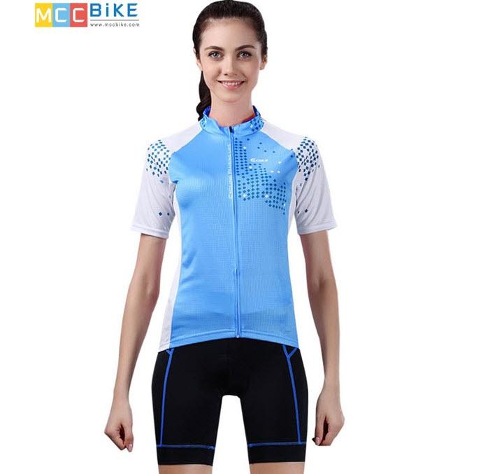 ชุดปั่นจักรยานผู้หญิง cheji 009 เสื้อปั่นจักรยาน พร้อมกางเกงปั่นจักรยาน