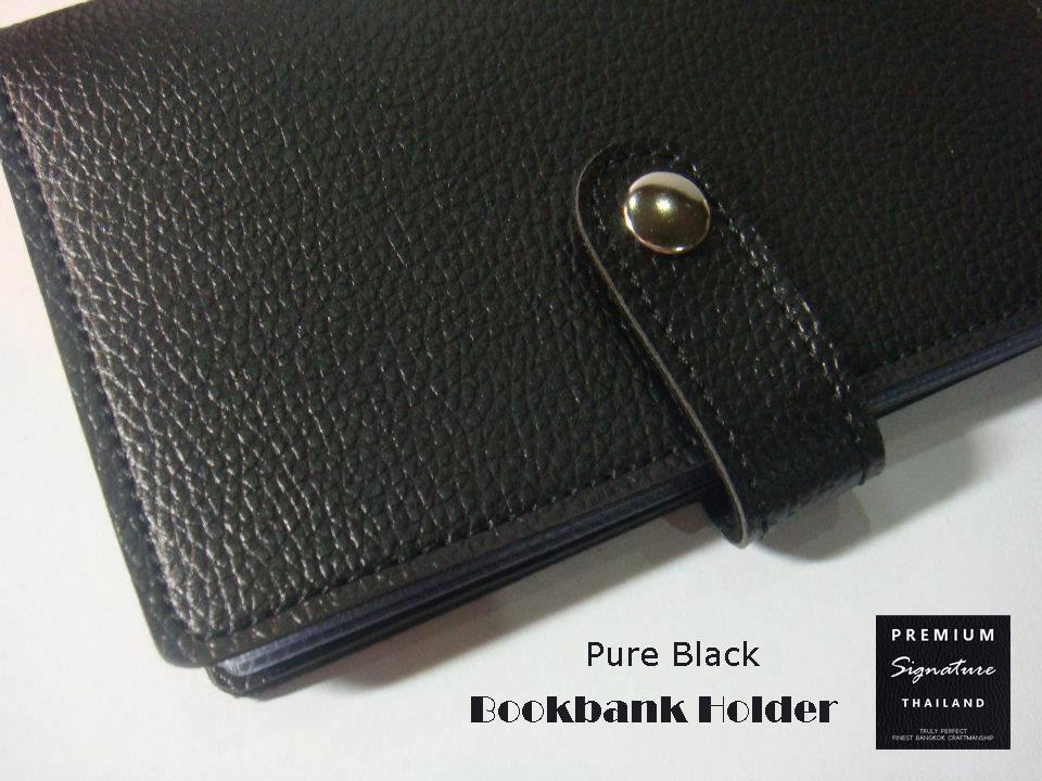 Pure Black(ดำ) - Bookbank Holder