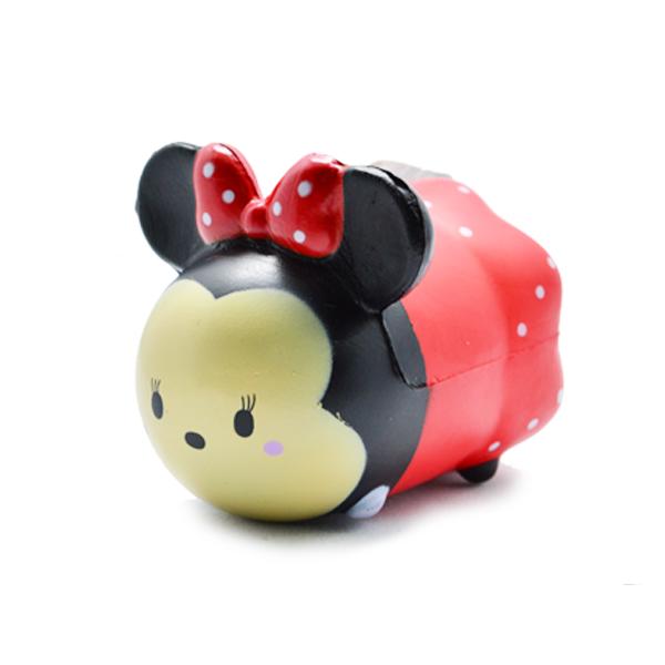 CA647 สกุชชี่ Disny tsum tsum Minnie Mouse Red ขนาด 7 cm ลิขสิทธิ์แท้