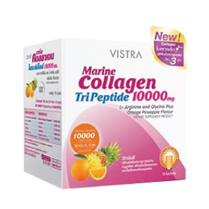 Vistra Marine Collagen Tri Peptide 10000 mg. Orange Pineapple Flavour