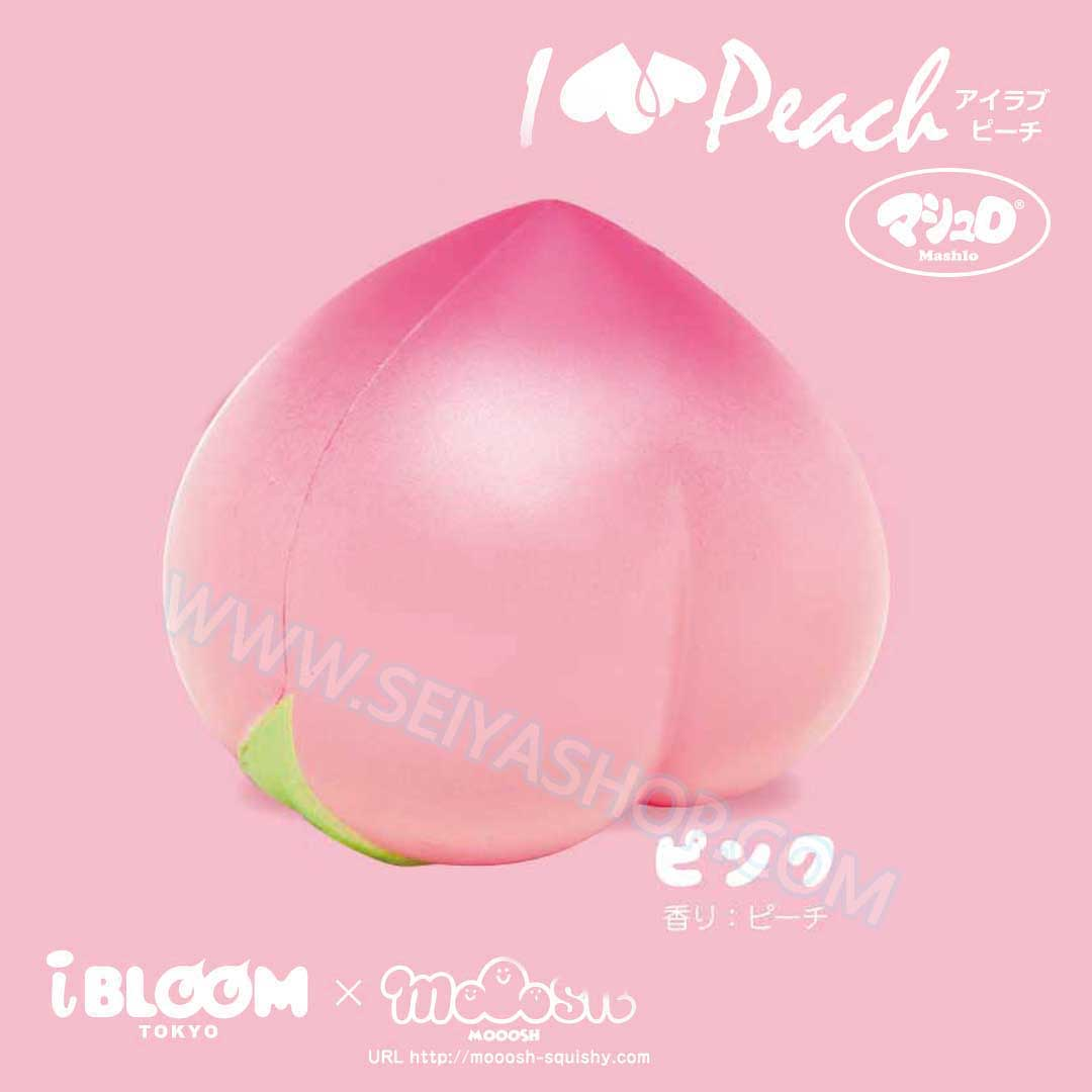 I419 I-Bloom สกุชชี่ squishy Peach Pearl Yellow ขนาด 9 cm Ver 2018 (Super Soft)ลิขสิทธิ์แท้ ญี่ปุ่น