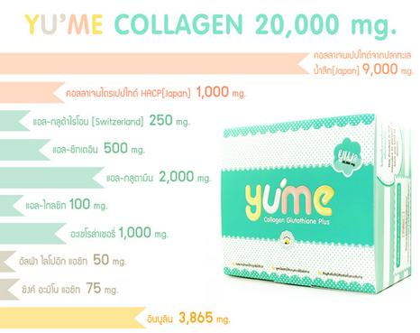 Yume Collagen 20,000 mg. 15 ซอง ยูเมะ คอลลาเจน 20,000 มก. สำเนา
