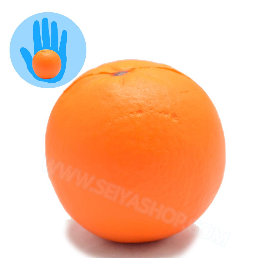 CA769 สกุชชี่ ส้ม ขนาด 8 cm (Super soft)