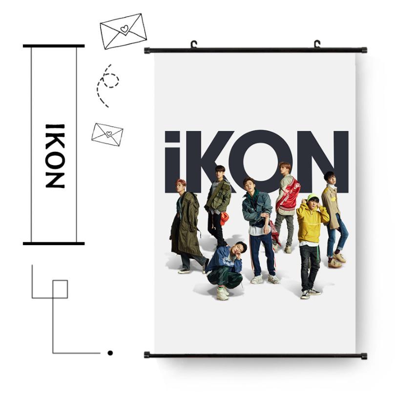 KINX4 ม่านบังแดด ของแฟนเมด ติ่งเกาหลี IKON ขนาด 35x35 cm