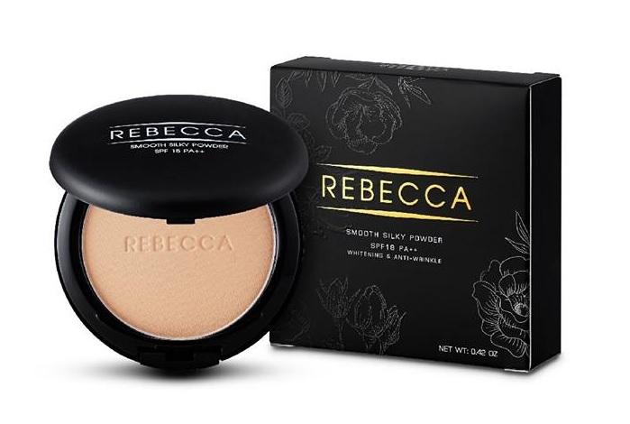 Rebecca Smooth silky powder รีเบคก้า แป้งพัฟคุมมัน กันน้ำ กันเหงื่อ เนื้อเนียนนุ่ม ทาปุ๊บ เด้งปั๊บ
