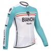 เสื้อปั่นจักรยานแขนยาว Bianchi ขนาด S พร้อมส่งทันที ฟรี EMS
