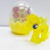 KC043 Pony Egg พวงกุญแจ โพนี่ สีเหลืองใส พร้อมสติกเกอร์