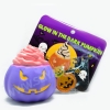 I138 สกุชชี่ Limited edition GLOW in the dark Halloween Pumpkin Squishy ฟักทอง ฮาโลวีน สีม่วง ขนาด 8 cm เรืองแสง ลิขสิทธิ์แท้