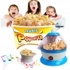 J023 Popcorn Maker เครื่องทำ ป๊อบคอร์นทำได้จริง พร้อมเสียงดนตรี (ไม่มีวัตถุดิบ) -สีฟ้า