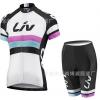 ชุดปั่นจักรยานผู้หญิง LIV White เสื้อปั่นจักรยาน พร้อมกางเกงปั่นจักรยาน