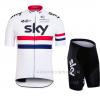 ชุดปั่นจักรยาน sky 2016 White เสื้อปั่นจักรยาน และ กางเกงปั่นจักรยาน