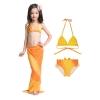NB013 ชุดว่ายน้ำเด็ก หางนางเงือก สี ส้ม กระโปรง สามารถนำขาออกได้ ทรง 1 ชุด มี 3 ชิ้น