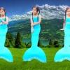 NA004 หางนางเงือกน้อง นะโม Kid Play สีฟ้า ผ้ายืดแบบชุดว่ายน้ำ