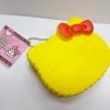 C851 สกุชี่ Hello Kitty PUP สีเหลือง (SUPER SOFT) ขนาด 8 cm
