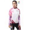 ชุดปั่นจักรยานผู้หญิง สีชมพู ขนาด S แขนสั้น