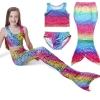 NB001 ชุดว่ายน้ำเด็ก หางนางเงือก สีรุ้ง ผ้ายืดแบบชุดว่ายน้ำ ทรงเสื้อกล้าม สามารถนำขาออกได้ 1 ชุด มี 3 ชิ้น