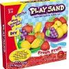 PW112 ทรายนิ่ม Soft Sand Play Sand Fresh Fruit ชุดทำผลไม้ ทราย 3 สี น้ำหนักรวม 600 กรัม พร้อมอุปกรณ์