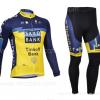 ชุดปั่นจักรยาน แขนยาว ทีม Saxo Bank ขนาด S พร้อมส่งทันที รวม EMS