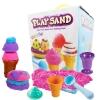 PW115 ทรายนิ่ม Soft Sand Play Sand ice cream ทรายคละ 3 สี น้ำหนักรวม 800 กรัม พร้อมอุปกรณ์ (1)