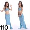 NB007-110 ชุดว่ายน้ำเด็ก หางนางเงือก สี ฟ้า เกาะอกทรงคล้อยคอ กระโปรง สามารถนำขาออกได้ ทรง 1 ชุด มี 3 ชิ้น