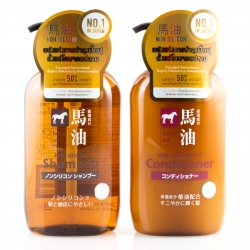 Value Set ชุดดูแลผมน้ำมันม้า Horse Oil Shampoo & Conditioner 600mlx2pcs